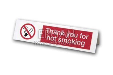 Masa Üstü Sigara İçilmez Yazısı