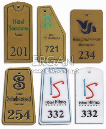 Çeşitli Otel Anahtarlıkları