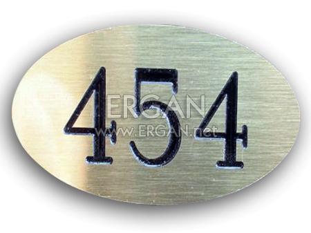 Metal Görünümlü Kapı Numarası